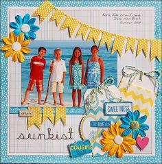 Sunkist Cousins *Scraptastic Kit* - Scrapbook.com