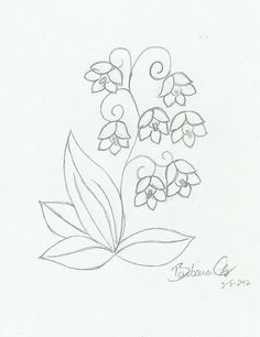 Lily of the Valley Drawings | Custom drawing Lily of the Valley | Flickr - Photo Sharing!