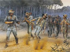 "Austraian Army - ""A jungle ambush during Operation Longcloth"" Peter Dennis"