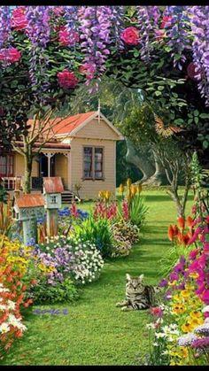 8 Flower Landscape Ideas For Your Garden – Garden Ideas 101 Beautiful Landscape Wallpaper, Beautiful Paintings, Beautiful Landscapes, Beautiful Gardens, Beautiful Flowers, Beautiful Places, Beautiful Pictures, Amazing Photos, Flowers Nature