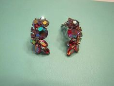 D&E Juliana  Rhinestone Clip Earrings by SweetBettysBling on Etsy, $35.00