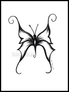 easy butterfly sketch - Google Search