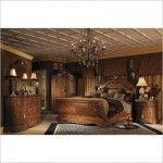 $4,725.00  AICO Furniture - Cortina Wood Sleigh Bed 3 Piece Bedroom Set in Honey Walnut - 223752