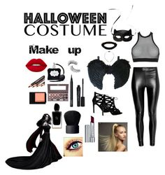 """""""Halloween costume🎆🎆"""" by zeynepbasar ❤ liked on Polyvore featuring Dsquared2, H&M, Lime Crime, Victoria's Secret, Trish McEvoy, Smashbox, NARS Cosmetics, Laura Geller, Maybelline and Giorgio Armani"""
