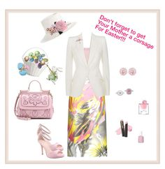 """Happy Easter"" by mary-kay-de-jesus ❤ liked on Polyvore featuring Rochas, I. MILLER, Dolce&Gabbana, Alexander McQueen, Emilio!, Essie, Lancôme, L.A. Girl, Zimmermann and Cara"