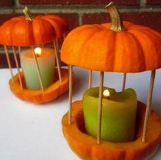 Carousel-Pumpkin http://www.bobvila.com/blogs/52-unexpected-and-amazing-ways-to-decorate-pumpkins/ Mini Pumpkins, White Pumpkins, Pumpkin Lights, Pumpkin Candles, Diy Pumpkin, Pumpkin Carving, Pumpkin Ideas, Tea Candles, Halloween Jack