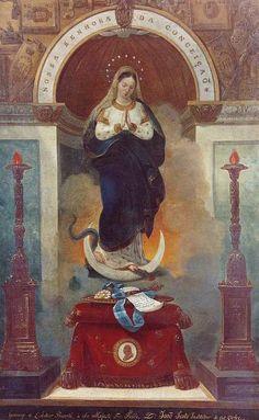 Alegoria à instituição da Real Ordem Militar de Nossa Senhora da Conceição de Vila Viçosa