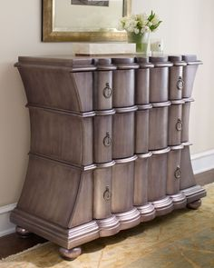 """""""Pewter"""" Chest - Horchow"""