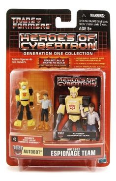 Transformers Heroes of Cybertron Generation One Collection Autobot Espionage Team Bumblebee and Spike Witwicky -- Click image for more details.Note:It is affiliate link to Amazon.