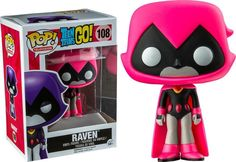 FUNKO POP Teen Titans GO! RAVEN Pink Version #108 Vinyl Figure