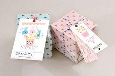 Étiquettes cadeaux / Gift tags par ChaSupermarket sur Etsy