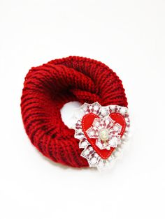 cowl Scarf // Red infinity scarf Valentine's by Themagicofcolors, $59.00