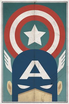 DC Comic Posters - A whole awesome page of vintage style comic book posters #Captain #America
