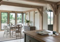 Since 1980 Border Oak have specialised in the design and construction of exceptional bespoke oak framed buildings across the UK and abroad Style At Home, Border Oak, Cottage Extension, Orangery Extension, Oak Framed Buildings, Oak Frame House, Cottage Interiors, Beautiful Kitchens, Country Kitchen
