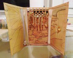 leather key case world map 6 key  Hasi Hato  #Unbranded