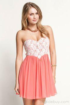 ピンク コルセット ドレス