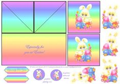 Here is a mini DL twin easel twist card in an easter theme with toppers,decoupage and text plates.  Refer to triple easel twist card kits in forum for instructions, if required.