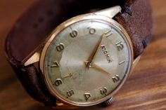 Swiss made Men's watch, Vintage watch ATOMIK 1960's, 17 Jewels, Swiss watch, Mechanical watch, Men's Watch, Wrist watch, Gold plated