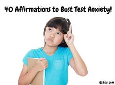 Affirmations to Bust Test Anxiety | GoZen! Signs Of Anxiety, Deal With Anxiety, Social Anxiety Test, How To Stop Nausea, Affirmations For Kids, Positive Affirmations, Anxiety Attacks Symptoms, Anxiety In Children
