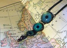Terra Incognita  Handmade Brass Necklace by Hibernacula on Etsy, $52.00
