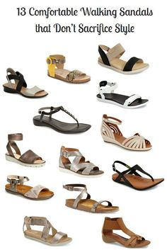 13 comfortable walking sandals that don't sacrifice style! It's 2016 and comfort continues to dominate footwear :) #arche #geox #flexx #olukai #ecco #gentlesouls #ahnu #naot #sofft #birkenstocks