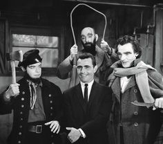 Rod Serling on the set of The Twilight Zone: The New Exhibit (1963).