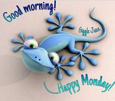 Billedresultat for gekko Good Morning Happy Monday, Good Morning Good Night, Happy Day, Happy Monday Pictures, Happy Monday Quotes, Compass Tattoo, Monday Greetings, Monday Blessings, Weekday Quotes