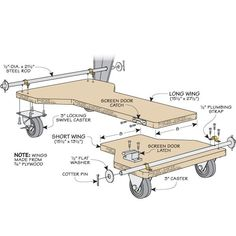 Easy-Lift Mobile Base | Woodsmith Tips
