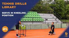 Top tennis drills: Serve in kneeling position Tennis Videos, Drills, Basketball Court, Positivity, Top, Free, Tennis, Drill, Crop Shirt