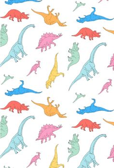 Dino Doodles Art Print by CORSAC / Julien Missaire | Society6