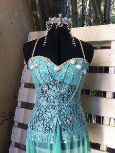 Sea princess EDM Halloweenrave  mermaid costume by Sugarontherim, $45.00