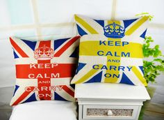 "* 18 "" Keep Calm and Carry On Decorative Throw Pillow Cover Vintage England Flag British Style Linen Sofa Cushion Cover Sofa Cushion Covers, Throw Pillow Covers, Cheap Pillows, Linen Sofa, British Style, Home Textile, Slipcovers, Decorative Throw Pillows, Roses"