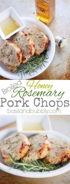 Easy Broiled Honey Rosemary Pork Chops use the boneless center cut chops and your oven to make an easy weeknight dinner recipe that is paleo and gluten free