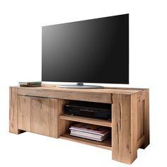 tv lowboard 130cm tv schrank eiche natur geolt fernsehschrank anrichte wildeiche in mobel wohnen mobel tv hifi tische ebay
