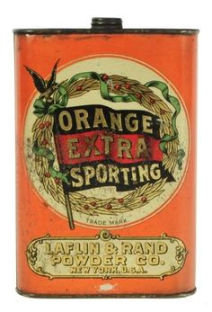 Orange Extra Sporting Powders Tin