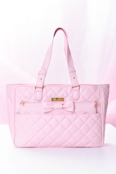 Quilting 3WAY parent-child baby pink ribbon bag