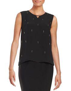 Nipon Boutique Embellished Tank Women's Black Medium