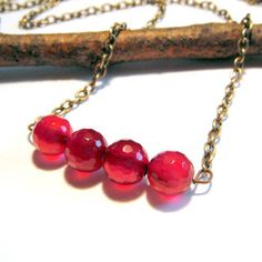 Agate Row Necklace Magenta now featured on Fab.