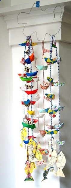 #DIY boat #garlands - Love these.