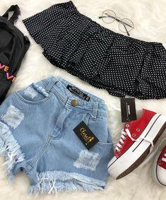 Roupas nike, roupas fofas, roupas estilosas, looks femininos, roupas da mod Teen Fashion Outfits, Teenage Outfits, Cute Fashion, Look Fashion, Outfits For Teens, Girl Fashion, Girl Outfits, Teenager Fashion, Fashion Rings