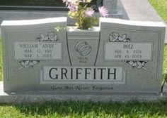 """William Andrew """"Andy"""" Griffith - Find A Grave Memorial Cemetery Monuments, Cemetery Headstones, Old Cemeteries, Cemetery Art, Graveyards, Cemetery Statues, Unusual Headstones, Headstones For Graves, Famous Tombstones"""