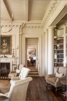 Super Home Library Room Victorian Interior Design 34 Ideas Dream Home Design, My Dream Home, Home Interior Design, House Design, Interior Design Victorian, Modern Victorian Decor, Classical Interior Design, English Interior, Mansion Interior