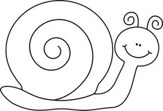 Black and White Snail Clip Art - Black and White Snail Image Black And White Cartoon, Black And White Drawing, Kindergarten Crafts, Preschool Art, Snail Image, Snail Cartoon, Kids Bathroom Art, Snail Craft, Pipe Cleaner Crafts