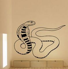 Wall Decal Snake Cobra Vinyl Sticker Wall Decor Home by CozyDecal, $19.99