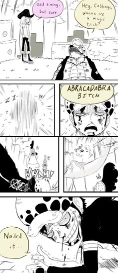 Cavendish and Trafalgar D. Water Law One Piece funny