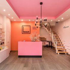 Branding for Keauti, a premium Korean skincare brand, in action. Logo design and visual identity by LET'S PANDA, Vancouver. Retail Branding, Logo Branding, Branding Design, Logo Design, Logos, Korean Logo, Korean Design, Beauty Salon Design, Spa Design