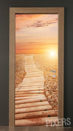 3D door sticker - sunset
