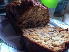 Healthy Banana Bread. NO SUGAR! Flour, egg, baking soda, bananas, applesauce, honey and a pinch of salt! So good!
