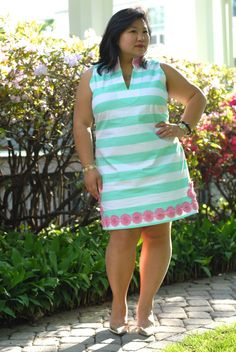 Sail to Sable mint stripe dress
