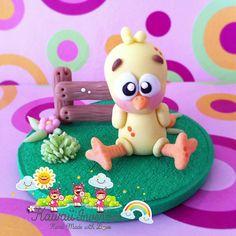 Cute Miniature Little Chicken por KawaiiInvention en Etsy, $15.00